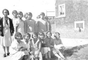 Older girls, Ahousaht Indian Residential School