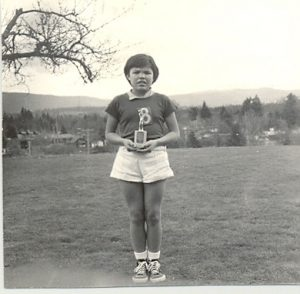 Best player of the series, girls pre-midget basketball, Alberni Indian Residential School.