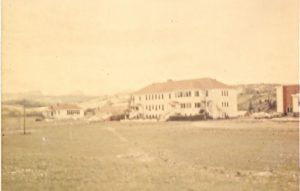 Morley Indian Residential School from afar.