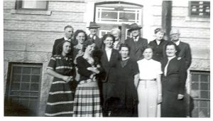 The staff of Portage la Prairie Indian Residential School.