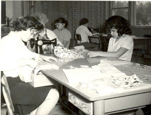 Students in sewing class, Portage la Prairie Indian Residential School.
