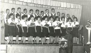 School choir, Portage la Prairie Indian Residential School.