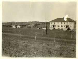 Morley Indian Residential School and day school.