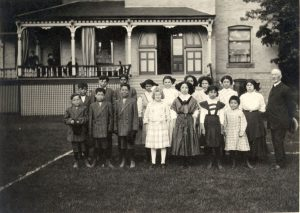 Some of the younger girls and boys in their best clothes, Mount Elgin Institute.