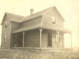 An Aboriginal home, File Hills Colony, Saskatchewan.