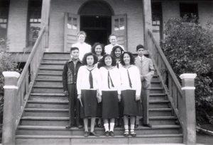 Graduating class, File Hills Indian Residential School.