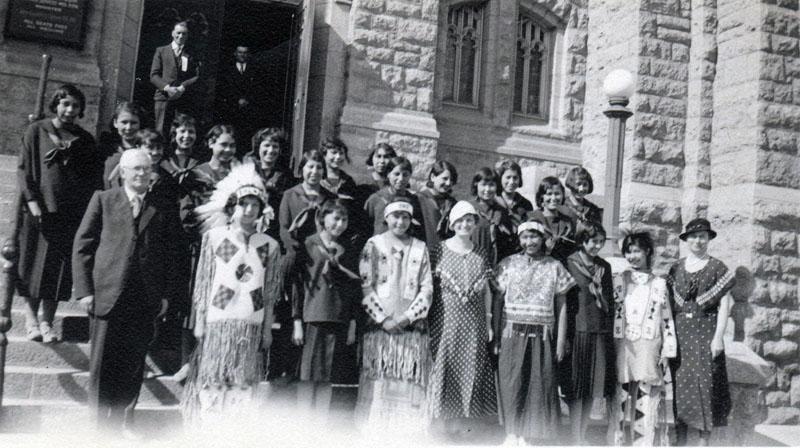 Girls' choir, 1935 provincial champions.