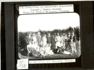 Dr. McGill, of the Committee on Missionary Education, at Norway House Indian Residential School.