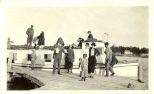 Fishing tug on which trip is made to Lake Winnipegosis, Manitoba.
