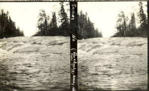 Rapids encountered during fall 1910 river journey.