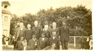 Visiting Reverends with members of the congregation, Norway House, 1925.