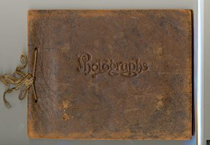 Cover of a photo album recording Reverend S.D. Chown's visit to Norway House, 1925.