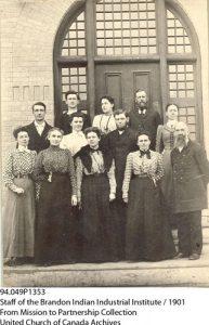 Staff at Brandon Industrial Institute.
