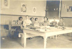 Sewing class, Brandon Industrial Institute