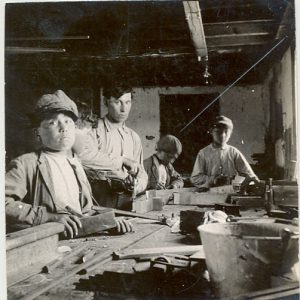 Carpentry class, Brandon Industrial Institute