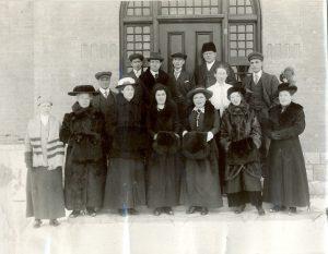 Staff of the Brandon Industrial Institute in wintertime.