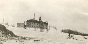 Brandon Industrial Institute in wintertime.