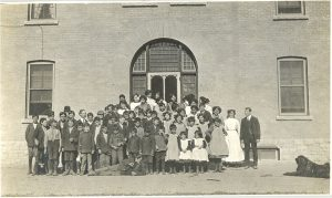Students and staff, Brandon Industrial Institute.