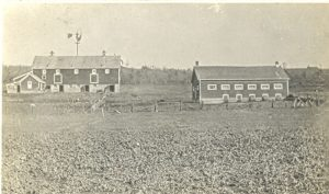 Barns and pastures, Brandon Industrial Institute.