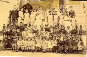 Staff and students of the Methodist school, Port Simpson., 93.049P/142