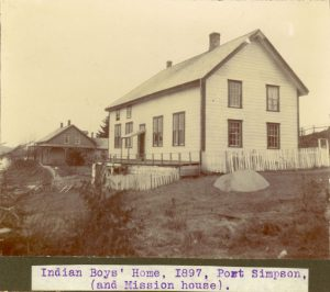 Boys' Home and mission house, Port Simpson.