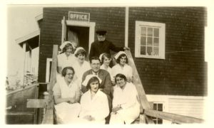 Staff of the Port Simpson hospital.