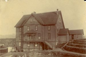 View of Crosby Girls' Home from side.