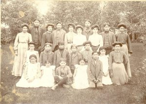 Children from Fisher River, Portage la Prairie Indian Residential School.