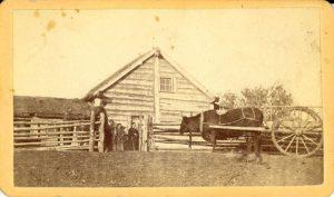 Canadian settler's house, Portage la Prairie, Manitoba.