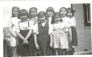 Students of Crosby Girls' Home, Port Simpson, 1948