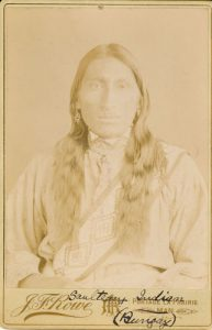 Portrait of Salteaux man