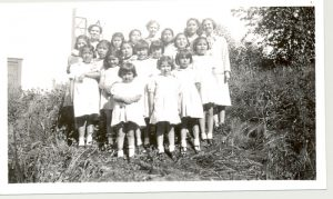 Students and staff of Crosby Girls' Home, Port Simpson, 1948.
