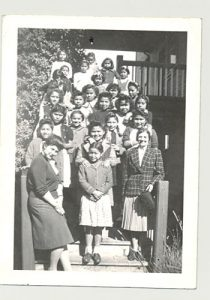 Students and staff of Crosby Girls' Home, Port Simpson.
