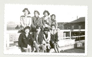 Students from Crosby Girls' Home, Port Simpson, 1947.