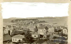 Partial view of Tsimshian village, Port Simpson.