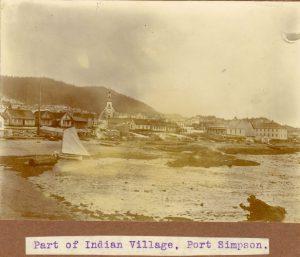 Part of Tsimshian village, Port Simpson.