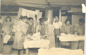 Students doing laundry, Coqualeetza Institute