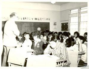 Teacher and class, Alberni Indian Residential School