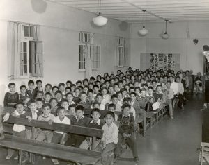 Boys in the Assembly Hall of the Alberni Indian Residential School