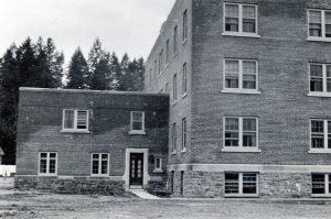 View of addition on Alberni Indian Residential School building.