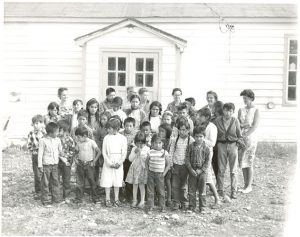 Students and teachers, Morley Indian Residential School.