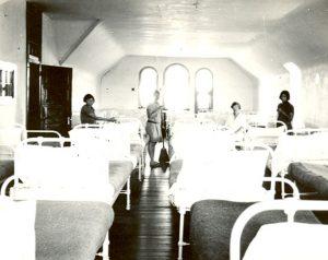 Girls' dormitory, Edmonton Indian Residential School.