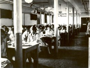 Student dining hall, Edmonton Indian Residential School.