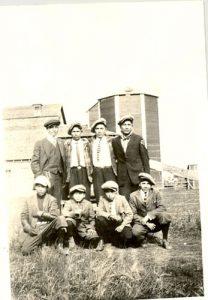 Eight male students, Edmonton Indian Residential School.