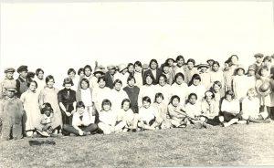 Students of Edmonton Indian Residential School.
