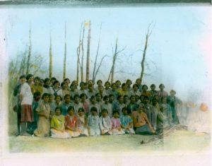 Children sitting for photograph.