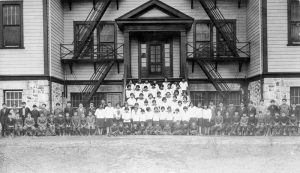 All students outside of school, Alberni Indian Residential School