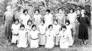 Junior class, Alberni Indian Residential School