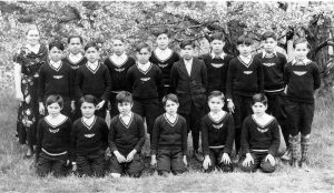 Junior boys' class, Alberni Indian Residential School