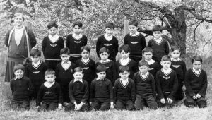 Primary boys' class, Alberni Indian Residential School